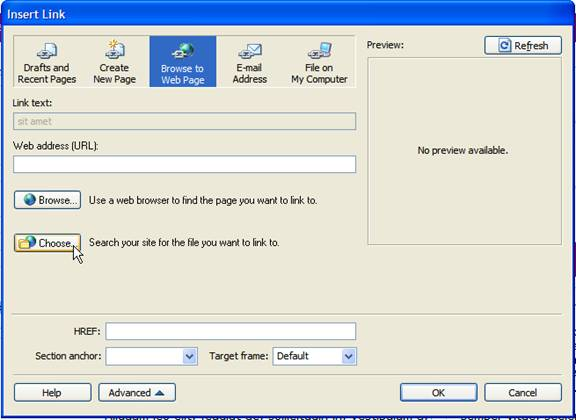 web to pdf with link